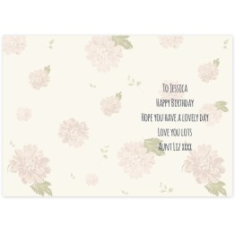 GC00527 2 - Personalised Rose Gold Floral Card