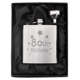 NP0102E43 1 - 80th Birthday Hip Flask