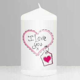 NP0409A76 - Heart Stitch - I Love You Candle