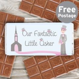NP051580 - Fabulous Little Usher Milk Chocolate Bar