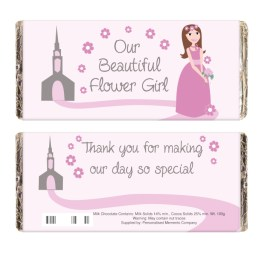 NP051581 1 - Fabulous Flower Girl Milk Chocolate Bar