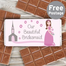 NP051582 - Fabulous Bridesmaid Milk Chocolate Bar