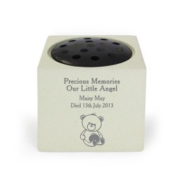 P011330 - Personalised Teddy Bear Memorial Vase