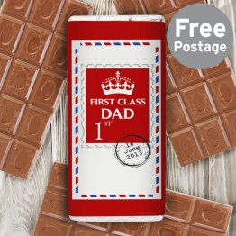 P0515G09 - Personalised 1st Class Milk Chocolate Bar