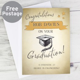 GC00548 - Personalised Gold Star Graduation Card