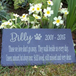 website Pet Retangle Slate Plaque Mockup - Personalised Engraved Slate Pet Memorial Grave Marker Plaque