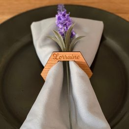 Napkin Hexagon Ring - Personalised Hexagon Napkin Ring
