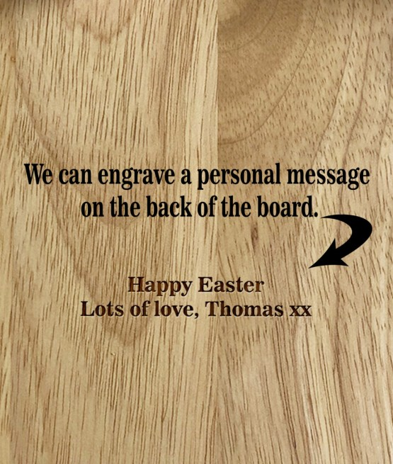 Personal Message on Back of egg board 2 - Personalised Name - Eggs Toast Breakfast Board