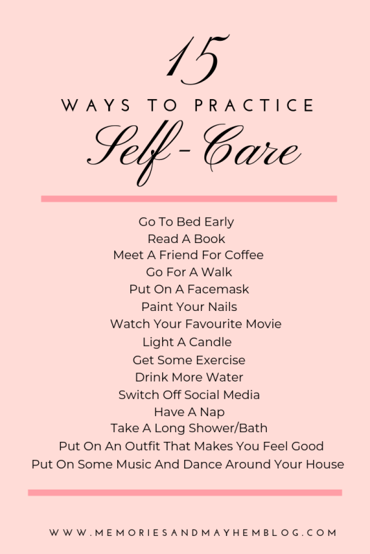 A list of 15 ways to practice self-care