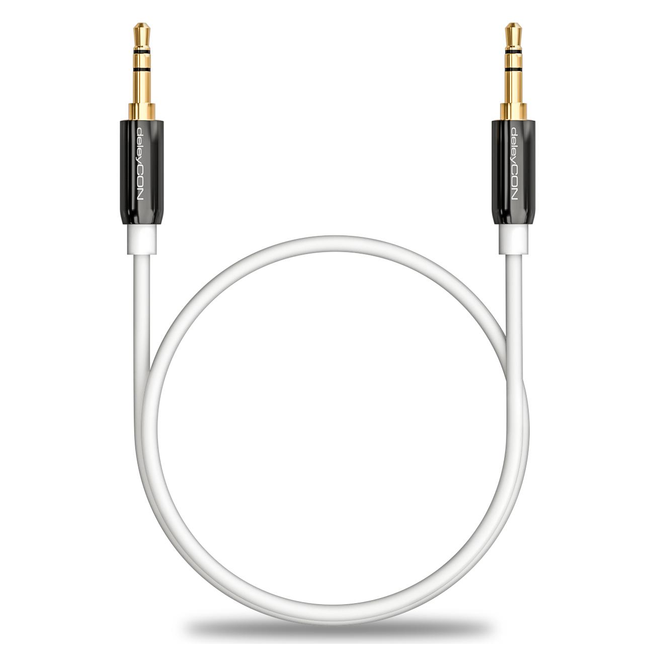 Deleycon 5m Klinken Kabel Wei 3 5mm Stecker Zu Stecker