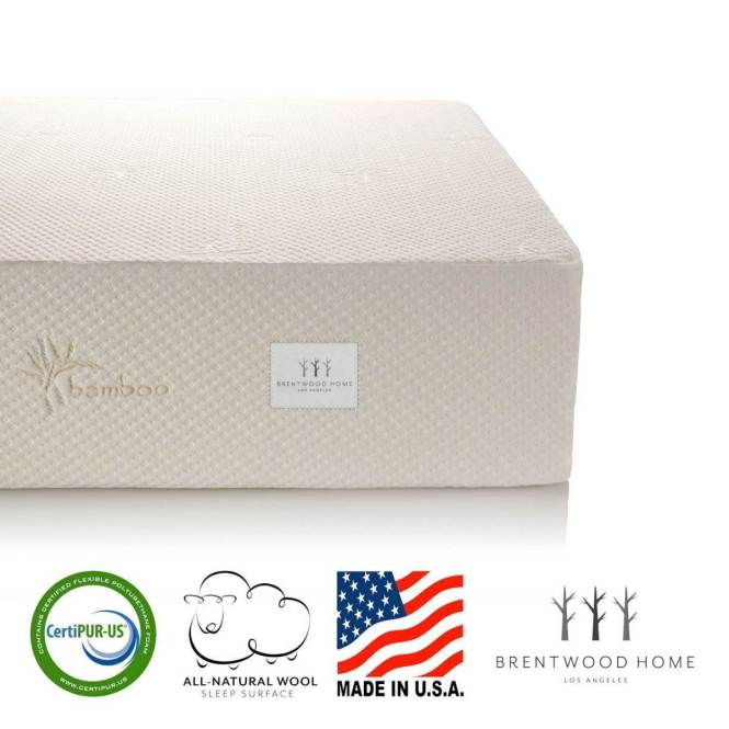 1 Most Recommend Bwood Home 13 Inch Gel Infused Memory Foam Mattress