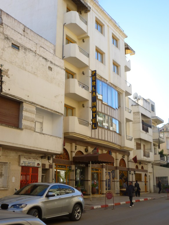 I stayed at the Hotel Perla in Fez.  It was an easy 10 minute walk to the hotel from the train station.