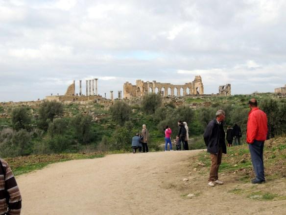 Entering the Volubilis ruins