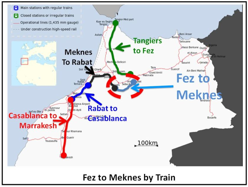 Fez to Meknes by Train