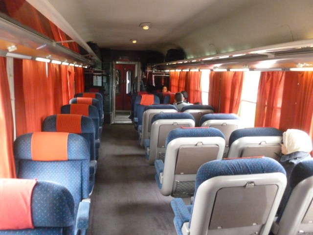 My first class passenger car between Meknes and Rabat.