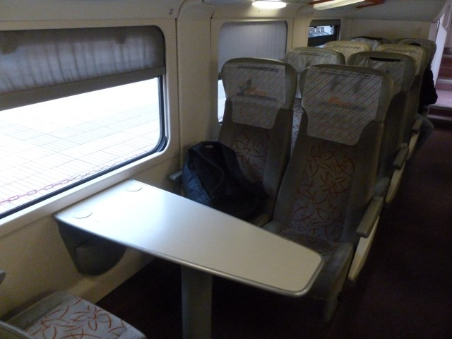 These are the first class seats that I had between Rabat and Casablanca.