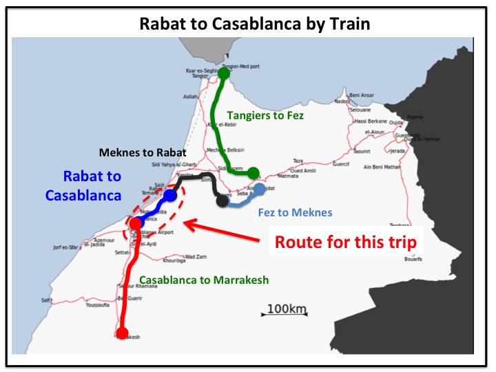 casablanca rabat by train