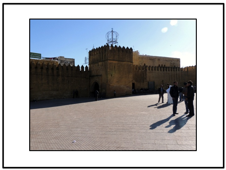 Michell and I entered the Sefrou medina through the wall of the old city.