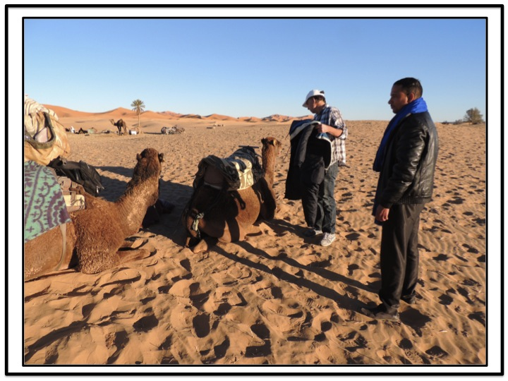It took a little bit of work to rearrange the equipment on camel one so that it cold accommodate me.