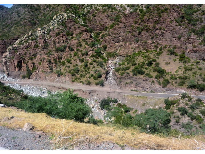 We still had a few more washed out roads to deal with as we passed through the canyon, and on to Loreto.