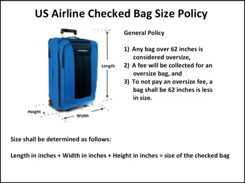 What Are The U S Airline Checked Baggage Limits Memory