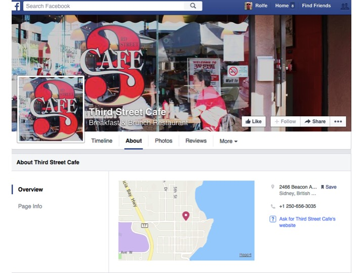 Click on this picture to see 3rd Street Cafe's Facebook webpage.