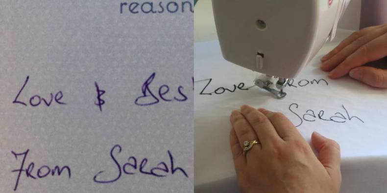 Framed Handwriting for Rachel - Behind the Scenes 28th August 2017