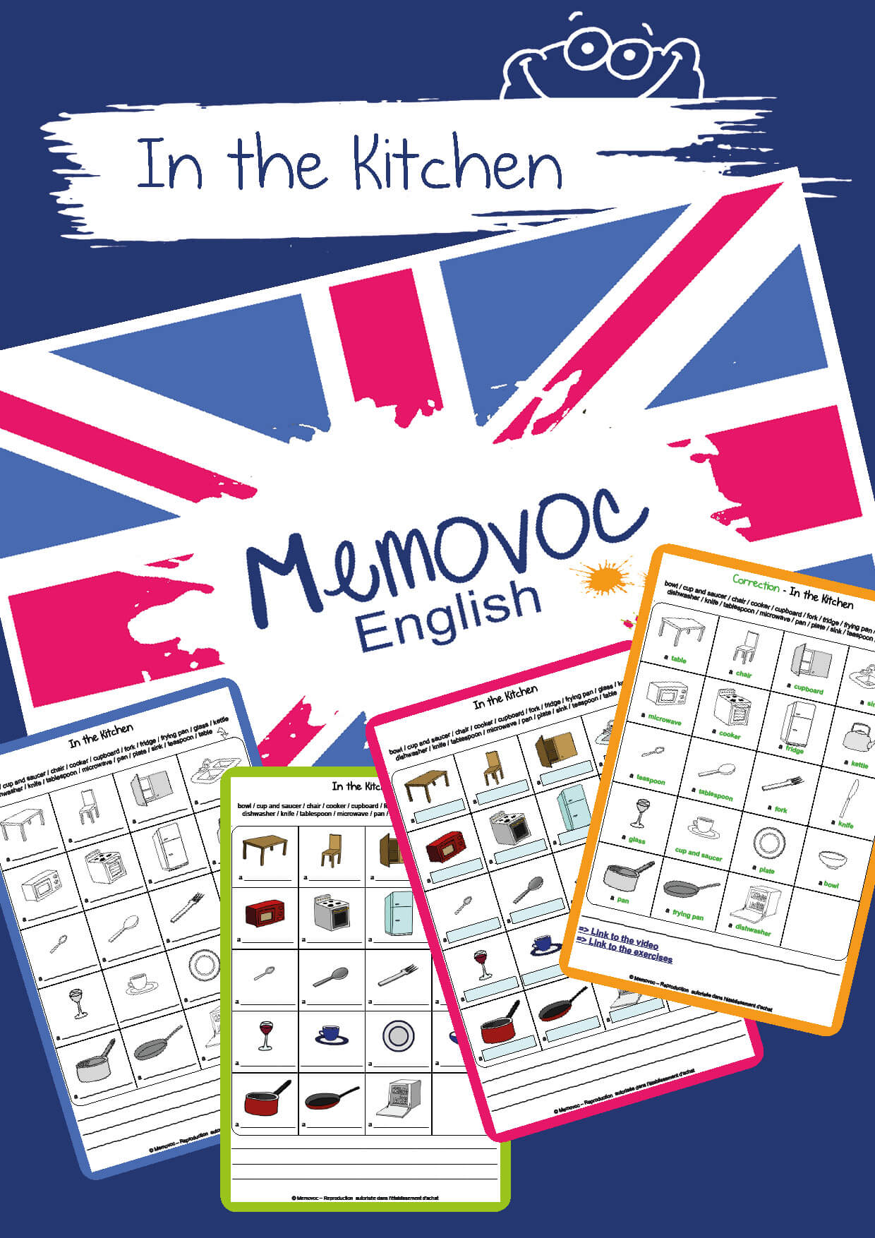 In The Kitchen Vocabulary Worksheets Memovoc
