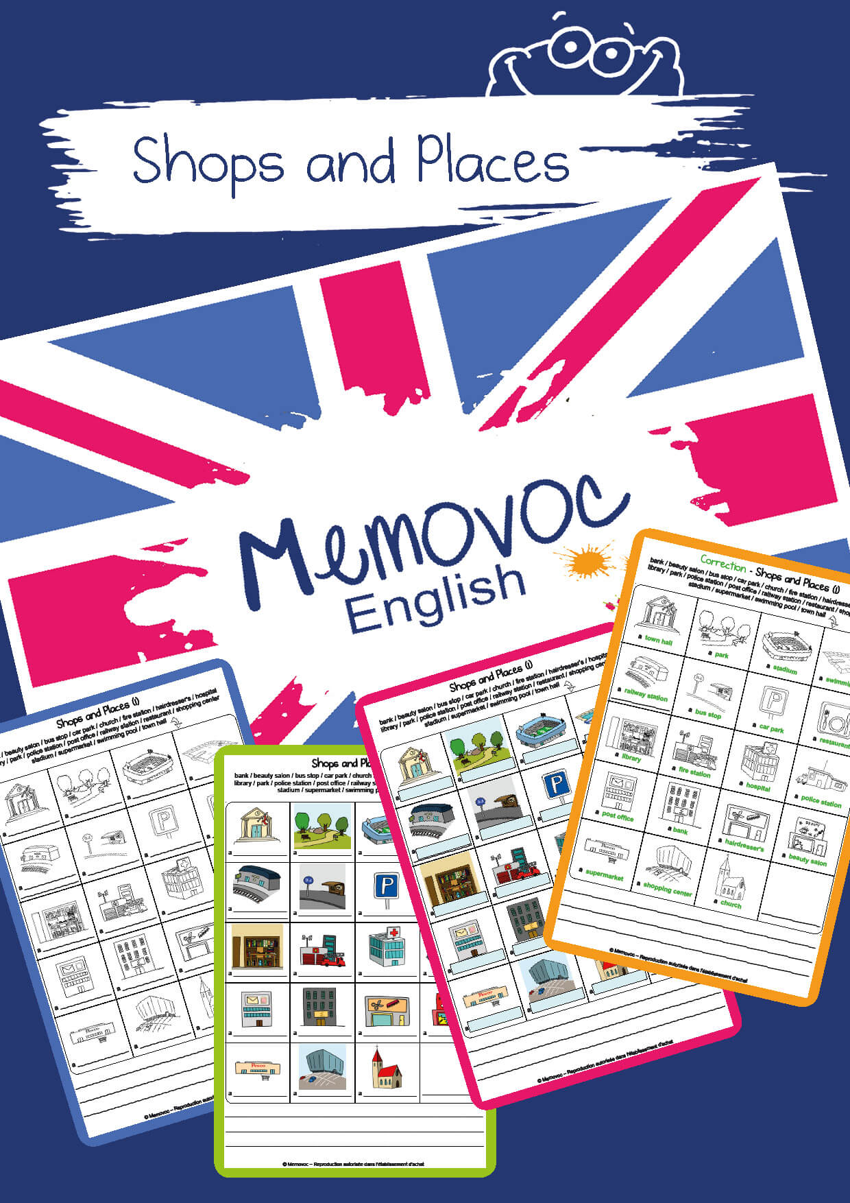 Shops And Places Vocabulary Worksheets Memovoc