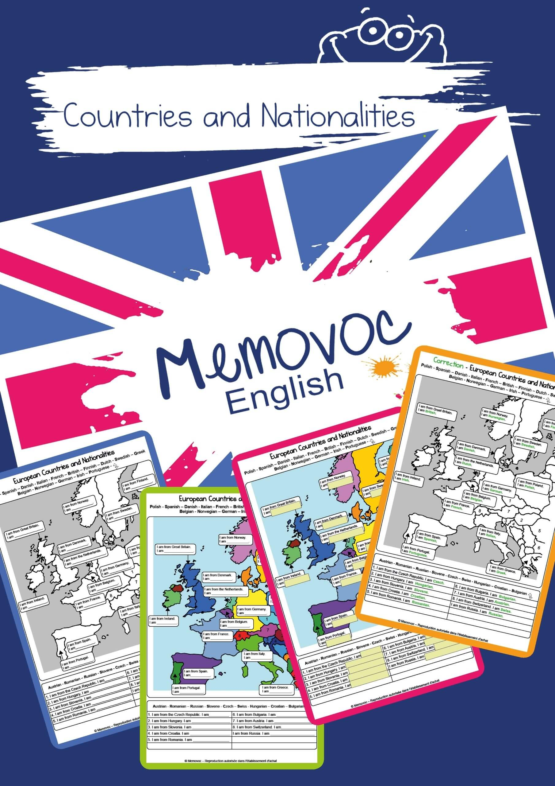 Countries And Nationalities Vocabulary Worksheets