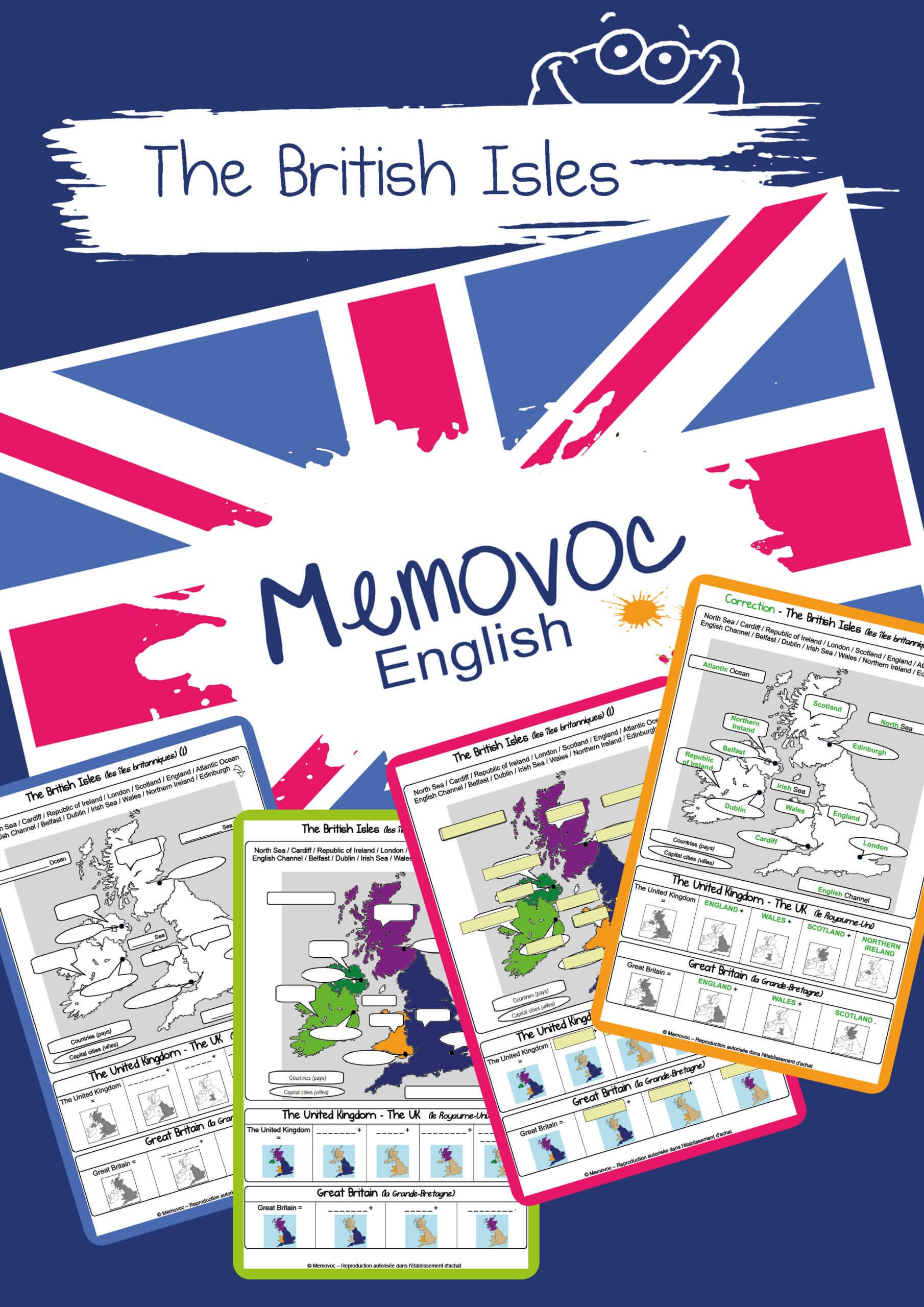 The British Isles Vocabulary Worksheets Memovoc