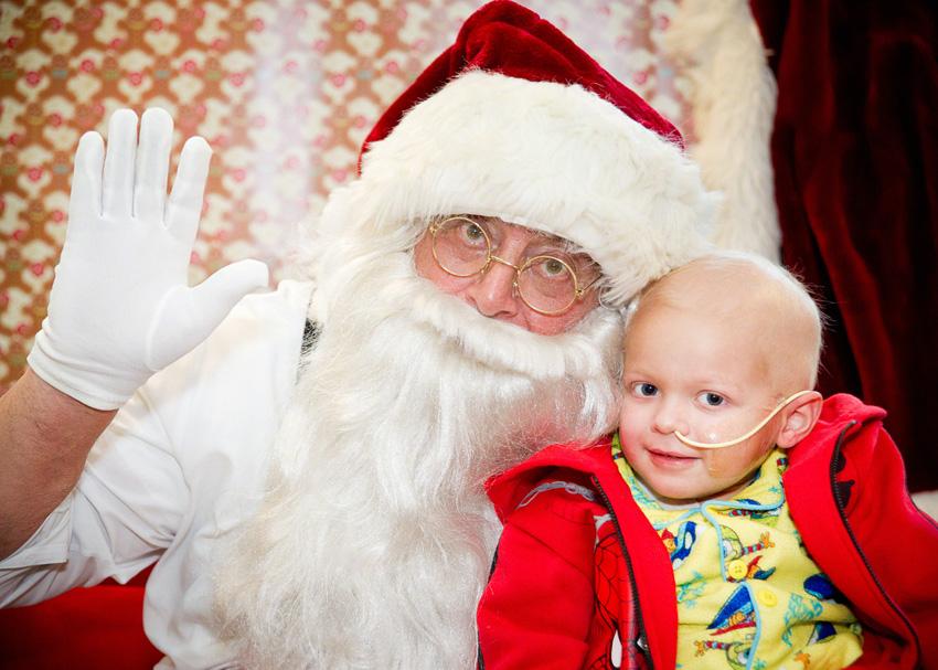 Santa Claus Makes 100th Visit To Kids At St Jude