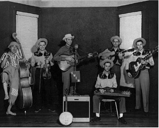 Bill Black, Tommy Seals, Doug Poindexter, Millard Yow, Clyde Rush and Scotty Moore