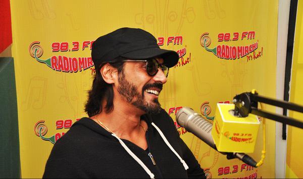 Jacqueline And Arjun At Radio Mirchi 98.3 FM In Mumbai Studio