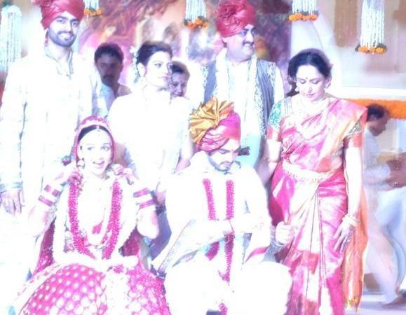 Esha and Bharat Wedding Ceremony Held On Iskcon Temple