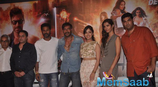 Stars At The Trailer Launch Of Film Action Jackson