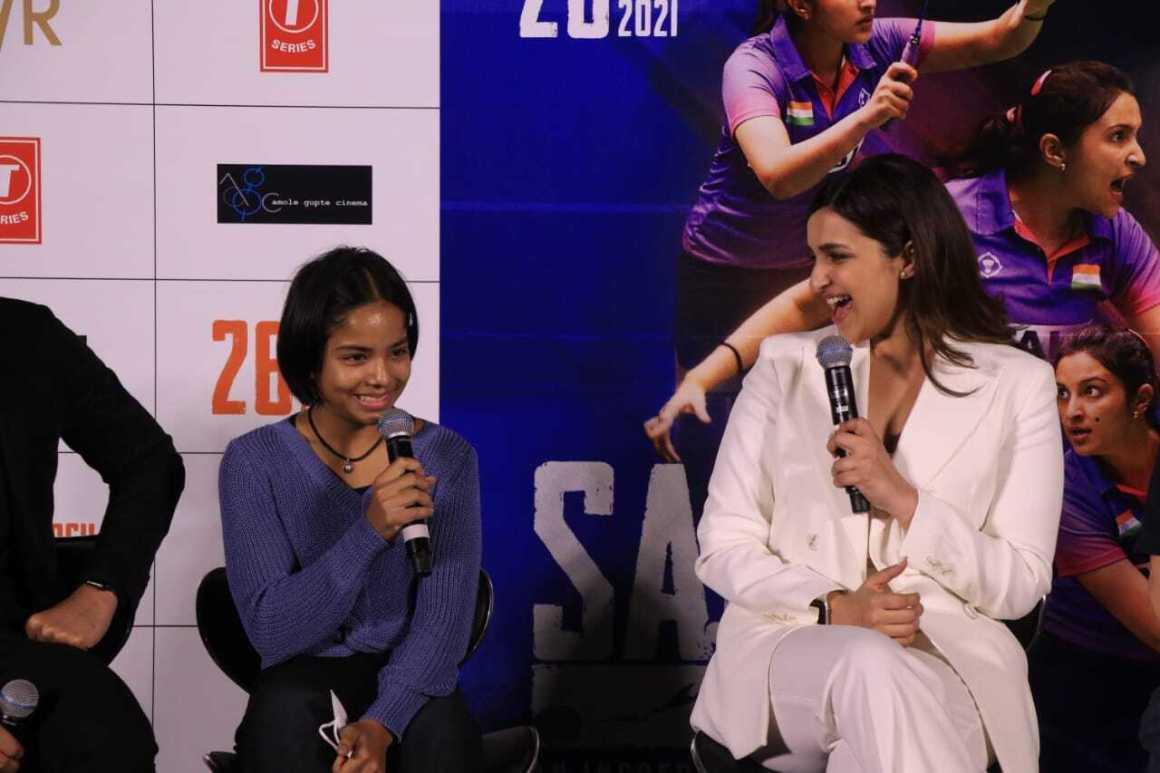 Parineeti Chopra's Saina Movie Trailer launch in Mumbai