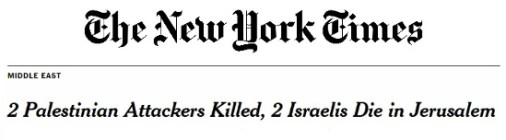 NYT - 2 Palestinian Attackers Killed