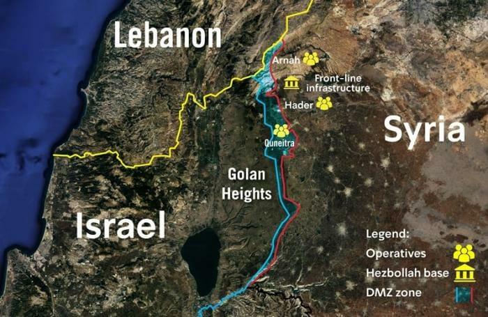 Israel deckt geheimes Hisbollah-Netzwerk an syrischer Grenze ...