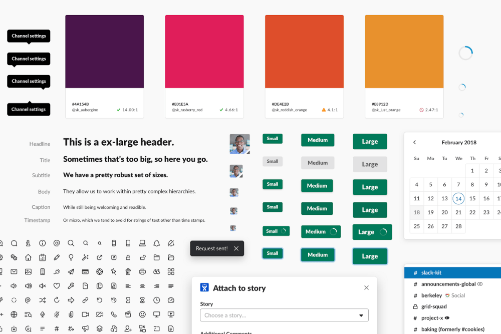 A screenshot from Slack's Design System, showing how they bring humour directly into their description of components.