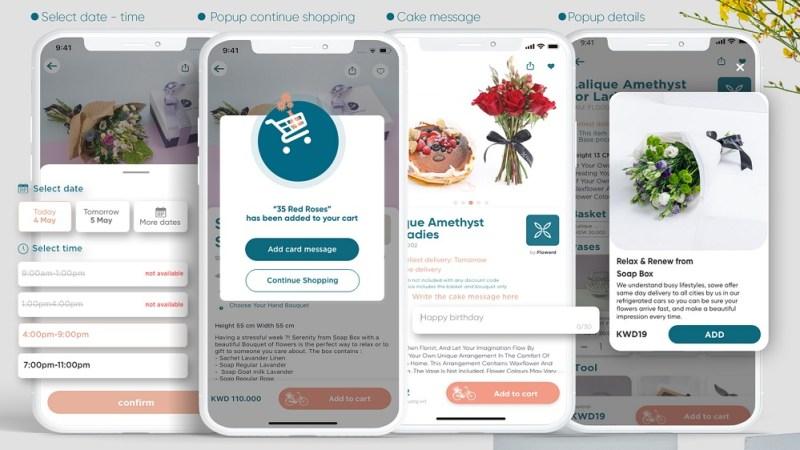 Floward's mobile app