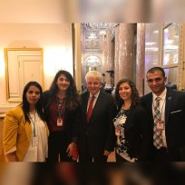 MENACS members with Nuclear Threat Initiative Vice-Chairman and Lord of Ladyton Des Brown