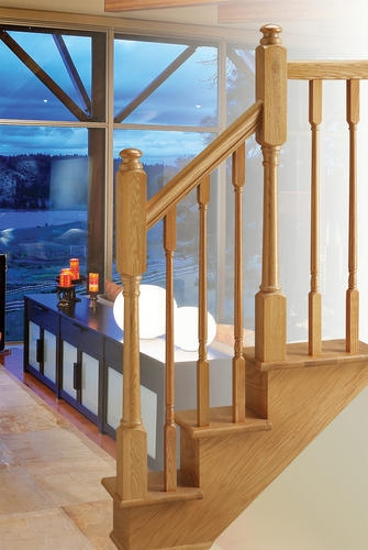 Mastercraft Traditional Oak Stair Handrails With Fillet 2 | Menards Interior Stair Railing