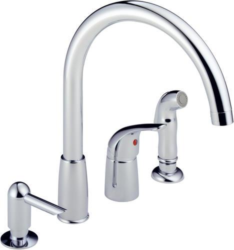Sprayer Widespread Kitchen Faucet Soap Dispenser Menards