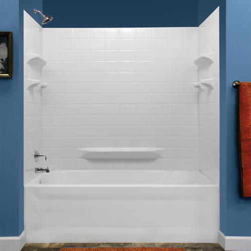 Lyons Palm Springs Tile Sectional Bathtub Wall Kit At Menards