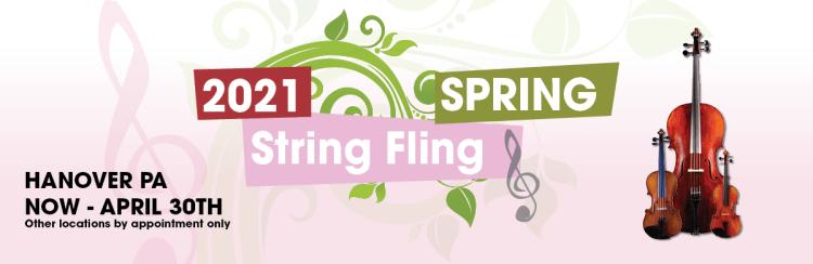 Spring String Fling April 1st through April 30th 2021.