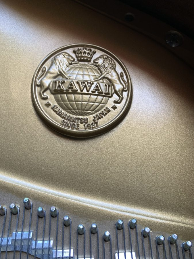 Kawai RX-2PE Grand Piano Inside Emblem View
