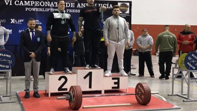 Photo of Jesús Mengíbar medalla de bronce en el VI Campeonato de Andalucía de powerlifting y Press banca