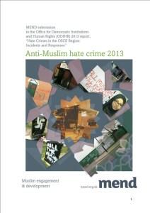 Anti-Muslim Hate Crime 2013