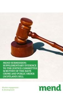 MEND – Scrutiny of the Hate Crime and Public Order (Scotland) Bill